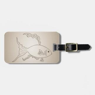 Étiquette À Bagage Petits poissons d'or