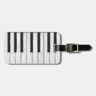 Étiquette À Bagage Pianiste élégant et moderne de tableau
