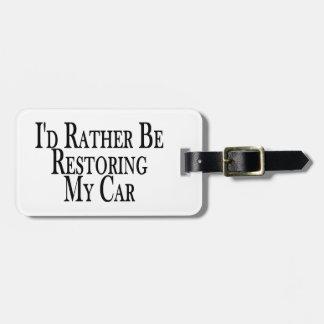Étiquette À Bagage Plutôt voiture de restauration