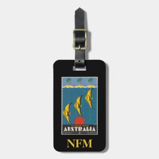 Étiquette À Bagage Poissons vintages Queensland Australie de voyage