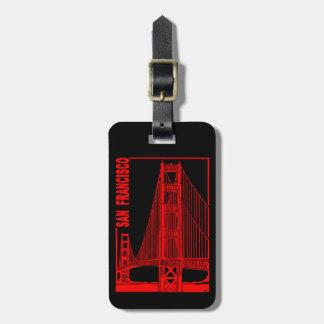 Étiquette À Bagage Pont Francisco-D'or en porte de San