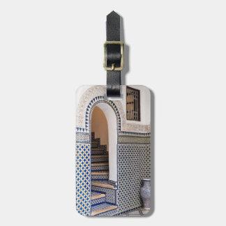 Étiquette À Bagage Porte carrelée marocaine