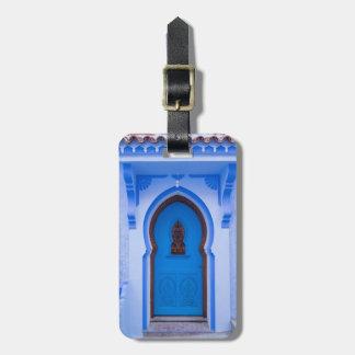 Étiquette À Bagage Porte marocaine bleue