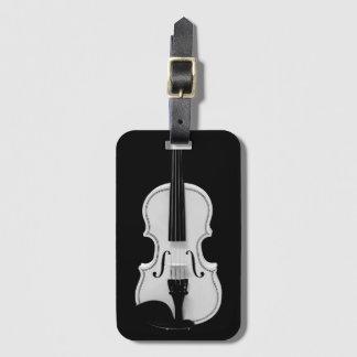 Étiquette À Bagage Portrait de violon - photographie noire et blanche