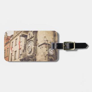 Étiquette À Bagage Prague, horloge astronomique de République Tchèque