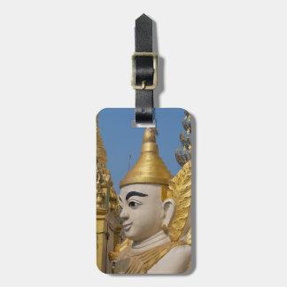 Étiquette À Bagage Profil de statue de Bouddha