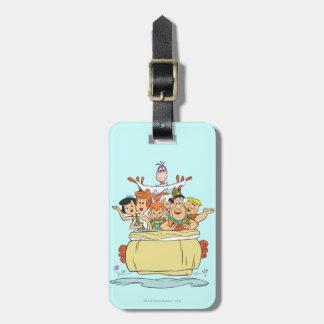 Étiquette À Bagage Promenade en voiture de famille de Flintstones