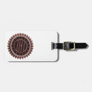 Étiquette À Bagage Puce de chocolat bronzage foncée : CHAKRA