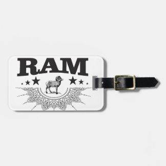 Étiquette À Bagage RAM des moutons