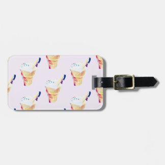 Étiquette À Bagage Reine de crème glacée