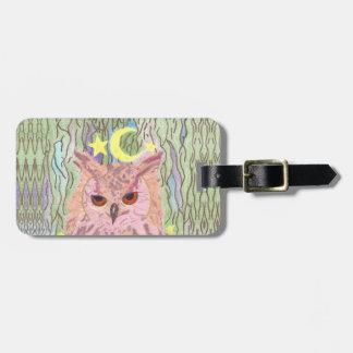 Étiquette À Bagage Reine de l'étiquette Girly de bagage de hibou de