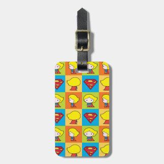 Étiquette À Bagage Revirement de caractère de Chibi Supergirl