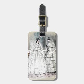 Étiquette À Bagage Robe de mariage vintage de jeune mariée