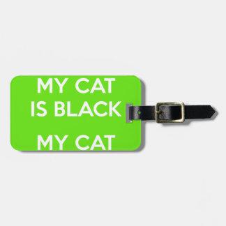 Étiquette À Bagage Roches de chat noir
