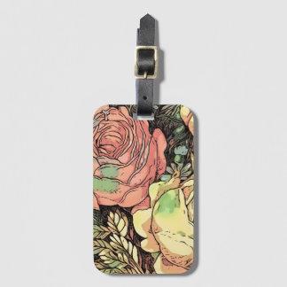 Étiquette À Bagage Roses merveilleux