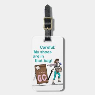 Étiquette À Bagage Sac de chaussure