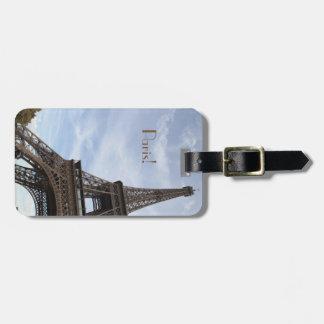 Étiquette À Bagage Salut Tour Eiffel de photographie de def, Paris
