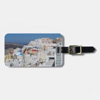 Étiquette À Bagage Santorini, Grèce