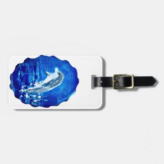 Étiquette À Bagage Saut de l'art de dauphin