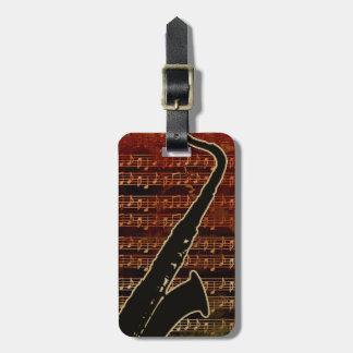 Étiquette À Bagage Saxophone chaud ID280 de tons