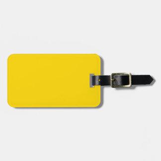 Étiquette À Bagage Seulement couleur assez solide jaune citron OSCB09