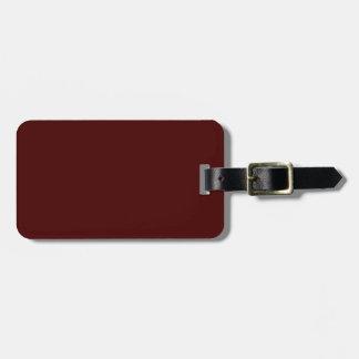 Étiquette À Bagage Seulement couleur solide magnifique OSCB16 de