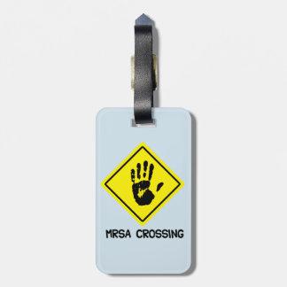 Étiquette À Bagage Signe de croisement de MRSA