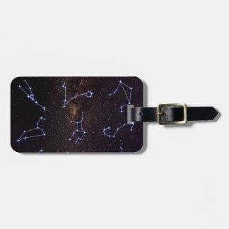 Étiquette À Bagage Signes d'étoile de zodiaque