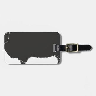 Étiquette À Bagage Silhouette de moutons noirs