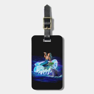 Étiquette À Bagage Sirène avec le dauphin
