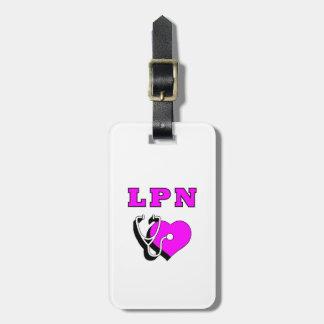 Étiquette À Bagage Soin infirmier de LPN
