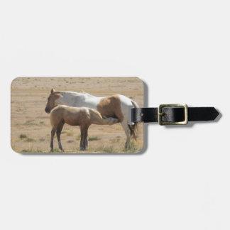 Étiquette À Bagage Soins de chevaux sauvages