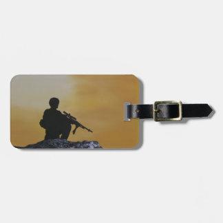 """Étiquette À Bagage Soldat d'étiquette de bagage """"sur la garde """""""