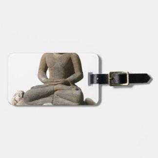 Étiquette À Bagage Statut de Bouddha (arrière - plan blanc)