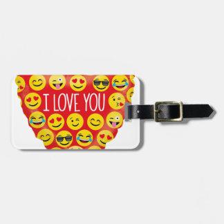 Étiquette À Bagage Stupéfier je t'aime le cadeau d'Emoji