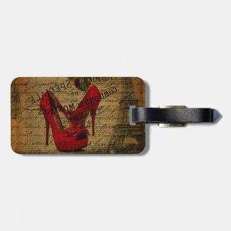 Étiquette À Bagage Stylets de rouge de fashionista de Tour Eiffel de