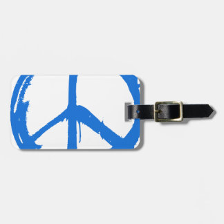 Étiquette À Bagage Symbole bleu de signe de paix