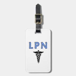 Étiquette À Bagage Symbole médical de caducée de LPN