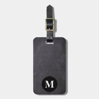 Étiquette À Bagage Tableau de gris de voyage de monogramme