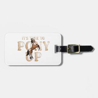 Étiquette À Bagage Temps de PIÈCE EN T au poney