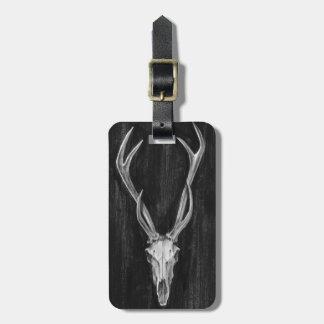 Étiquette À Bagage Tête rustique d'animal de cerfs communs