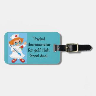 Étiquette À Bagage Thermomètre commercé pour le club de golf - bonne