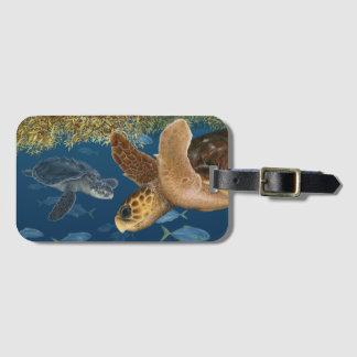 Étiquette À Bagage Tortues de mer dans l'étiquette de bagage