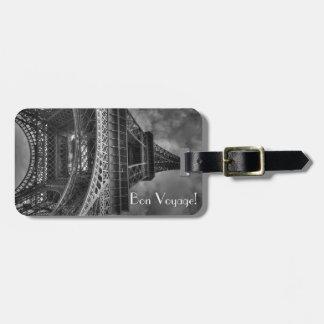 Étiquette À Bagage Tour Eiffel de voyage de fève, étiquette de bagage