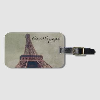 Étiquette À Bagage Tour Eiffel rétro, antiquité de la France de