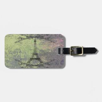 Étiquette À Bagage Tour Eiffel vintage