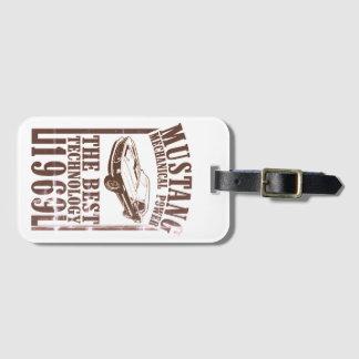 Étiquette À Bagage Transmission mécanique de mustang