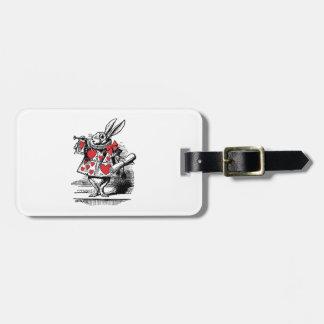 Étiquette À Bagage Trompettiste blanc Alice de cour de lapin au pays