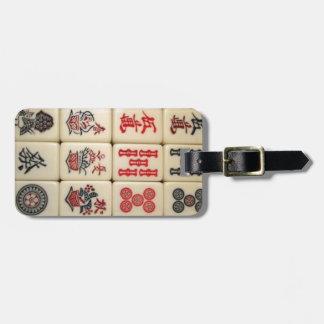 Étiquette À Bagage Tuiles de Mahjong