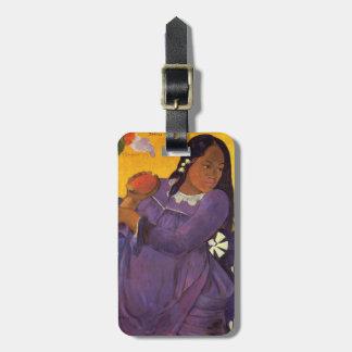 """Étiquette À Bagage """"Vahine aucun Te Vi"""" - Paul Gauguin"""